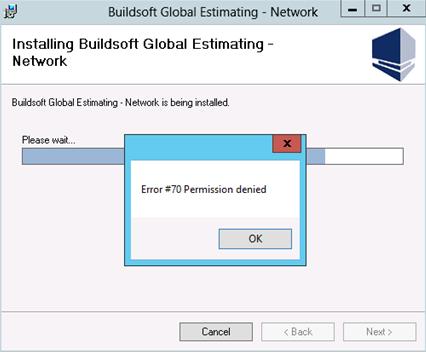 Error #70 Permission Denied – Buildsoft Support